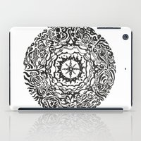 calendar iPad Cases featuring Aztec Calendar by Jack Soler