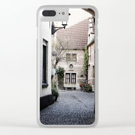 A quaint alley in the beguinage Clear iPhone Case