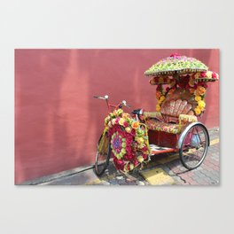 Malacca Festive Trishaw  Canvas Print