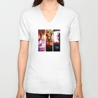 mass effect V-neck T-shirts featuring Mass Effect by Vaahlkult