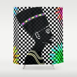 Queen Nefertiti Punk Star of the Nile Shower Curtain
