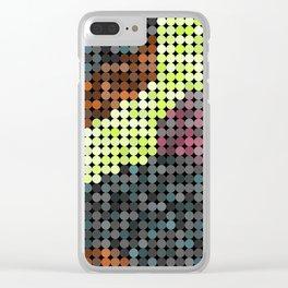Circular PIxels Clear iPhone Case