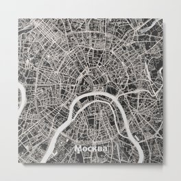 Moscow, Russia street map Metal Print