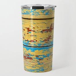 Wooden deck. Travel Mug