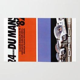 Le Mans 1982, 24hs Le Mans, 1982, original vintage poster Rug