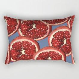 Pomegranate pattern Illustration Slices - blue Rectangular Pillow