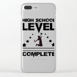 Gamer High School Graduate Graduation Clear iPhone Case