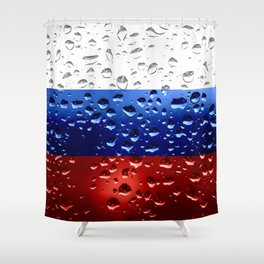Flag of Russia - Raindrops Shower Curtain