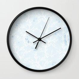 Japan Sakura Flowers - Blue Romance Wall Clock