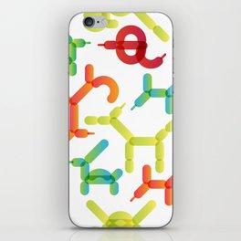 Balloon animals pattern #2 iPhone Skin