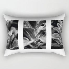 ABSTRACT FLOWER TRIPTYCH Rectangular Pillow