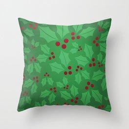 Holly Jolly Christmas Throw Pillow