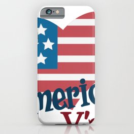 Indepence Day America Y'all Flag Heart July 4th Shirt iPhone Case