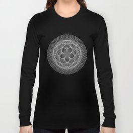 Venus Flower - Black Long Sleeve T-shirt
