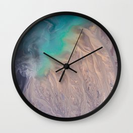 The abstract swirl of beach life Wall Clock