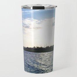 Sunset in the Harbor Travel Mug