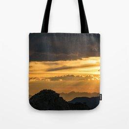 Mount Evans Sunset Tote Bag