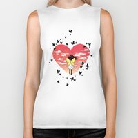 butterflies Biker Tanks featuring Butterflies by Freeminds