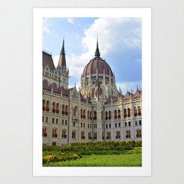 The Hungarian Parliament Building Art Print