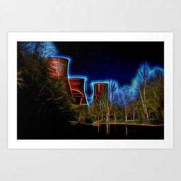 Digital Art Ironbridge Power Station Art Print