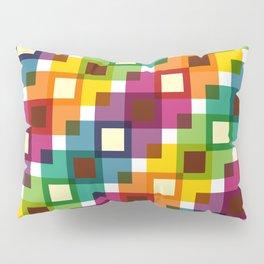 Geometric Pattern 11 (Colorful squares) Pillow Sham