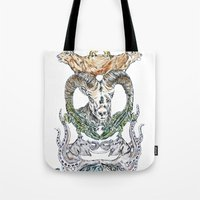 wild things Tote Bags featuring Wild Things by Carley Lee
