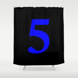 5 (BLUE & BLACK NUMBERS) Shower Curtain