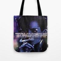 nightcrawler Tote Bags featuring Nightcrawler by MoMo86