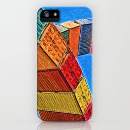 A Rainbow Of Shipping Containers iPhone Case
