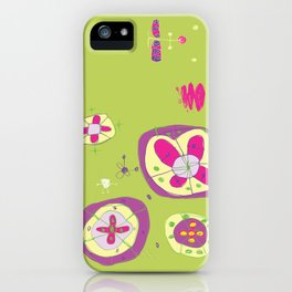 Flower Planets iPhone Case