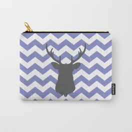 Purple chevron deer Carry-All Pouch