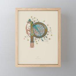 Celtic Initial P Framed Mini Art Print