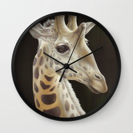 Animals | Giraffe Art | Painting | Animal | Illustration | Love Wall Clock