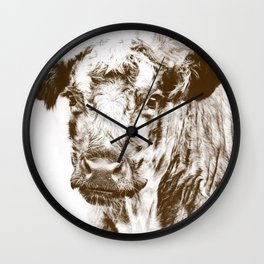 Ardnamurchan Coo - Brown Wall Clock