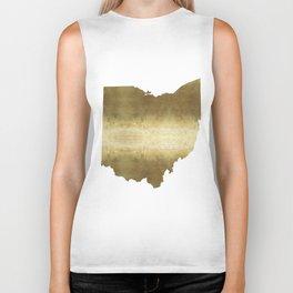 ohio gold foil state map Biker Tank