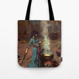 John William Waterhouse - The Magic Circle Tote Bag