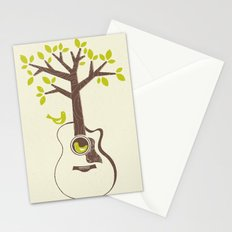 Birds & Acoustic Guitar Stationery Cards