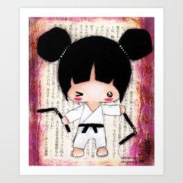 Martial Arts Girl Art Print