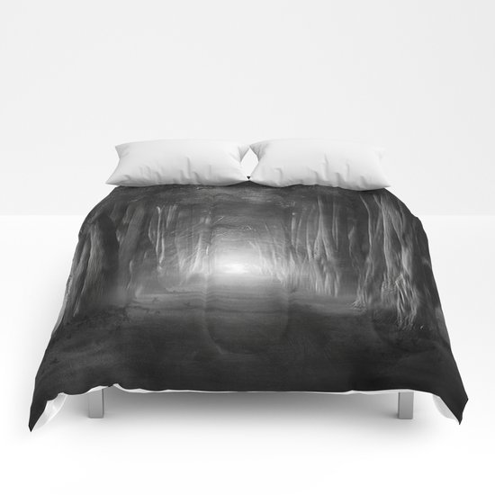Black and White - Dreams come true Comforters