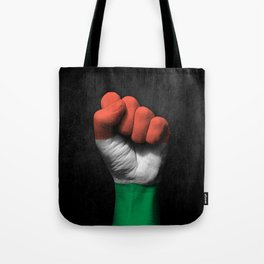 Hungarian Flag on a Raised Clenched Fist Tote Bag