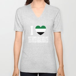 I Love  United Arab Emirates Unisex V-Neck