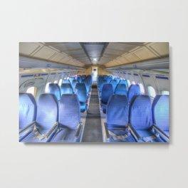 Russian Airliner Seating Metal Print