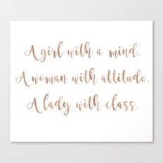 A girl, a woman and a lady - rose gold Canvas Print