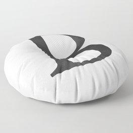 Letter B Initial Monogram Black and White Floor Pillow