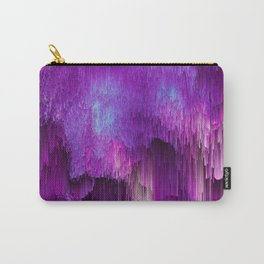 Shatter Falls - Abstract Glitch Pixel Art Carry-All Pouch