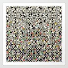 cellular ombre Art Print