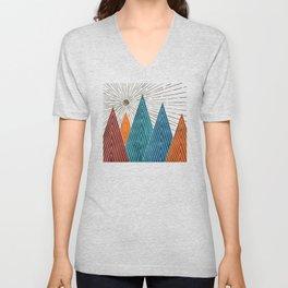 Autumn Mountains Unisex V-Neck