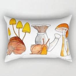 Mushrooms and Snail Rectangular Pillow