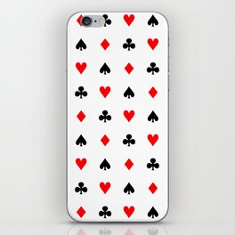 Playing cards pattern iPhone Skin