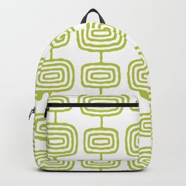 Mid Century Modern Atomic Rings Pattern Chartreuse 3 Backpack